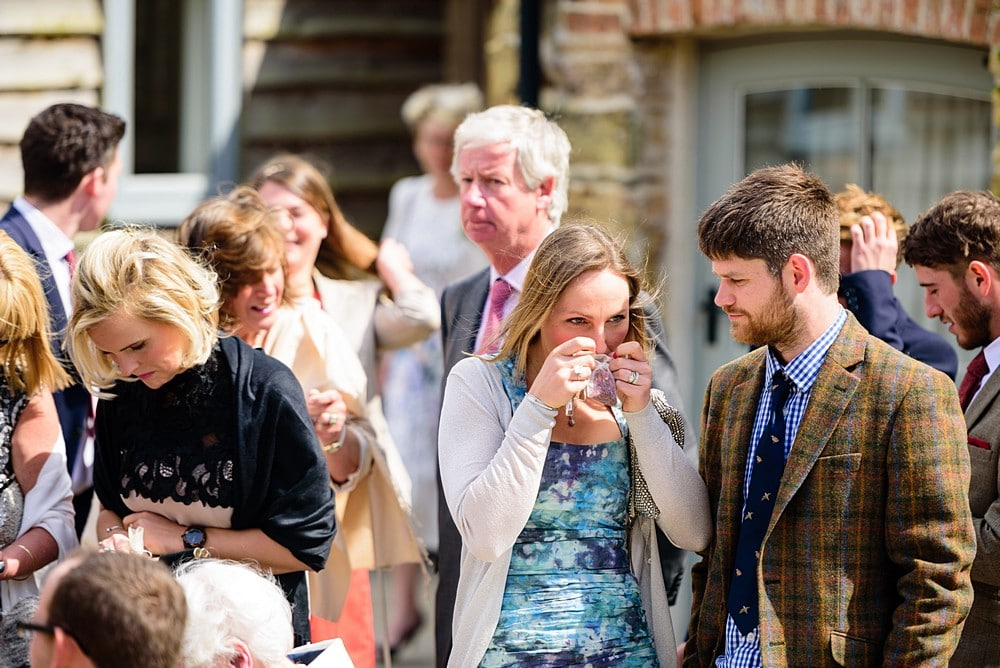 Candid photographs of the wedding guest at Nancarrow Farm 20