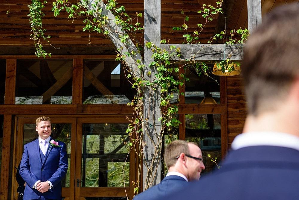 Outside wedding ceremony at Nancarrow Farm 22