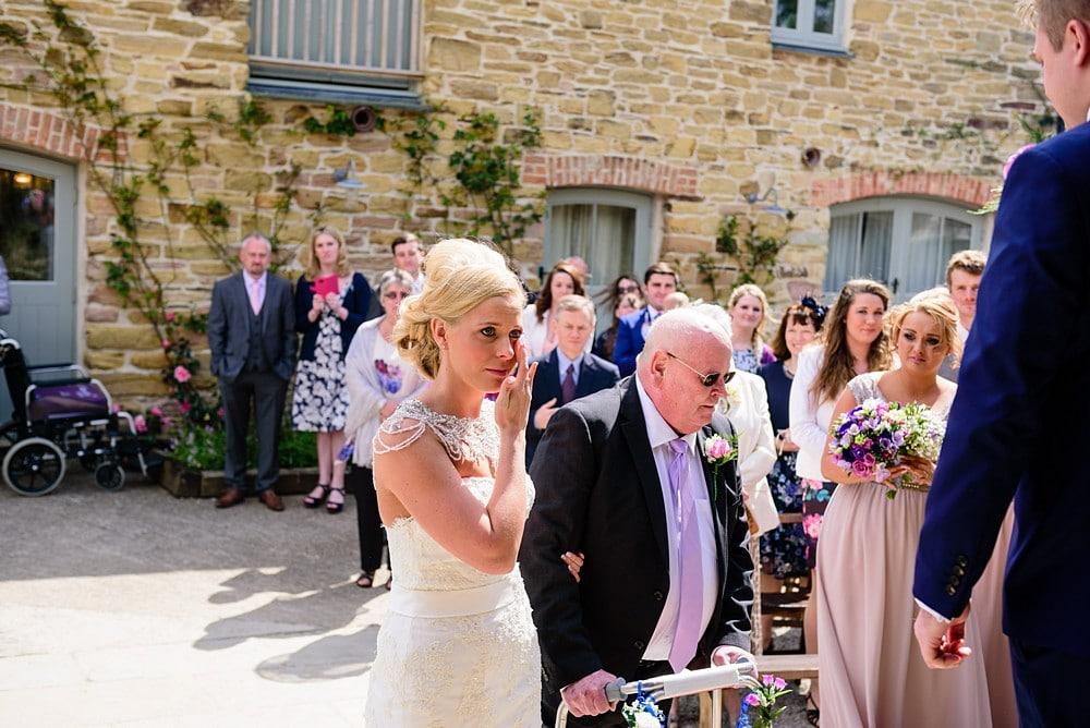 emotional wedding ceremony at Nancarrow Farm 26