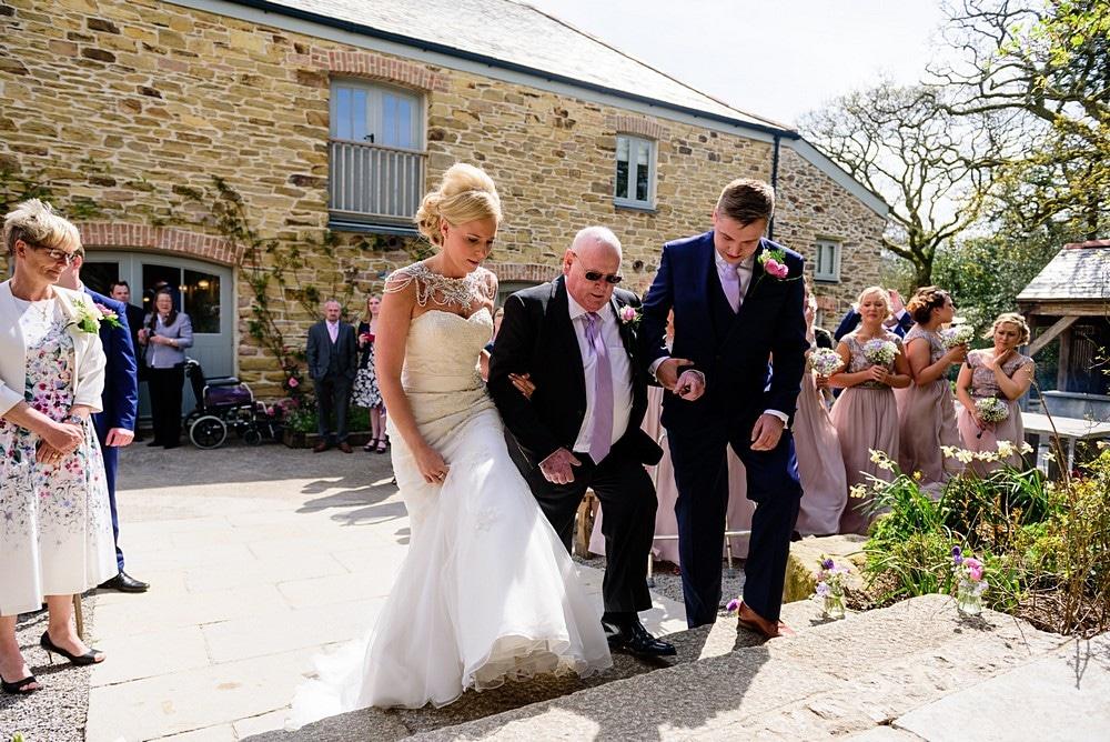 Rustic wedding ceremony at Nancarrow Farm 27