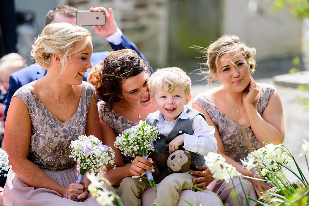 Cute paigeboy at a Nancarrow Farm wedding 28