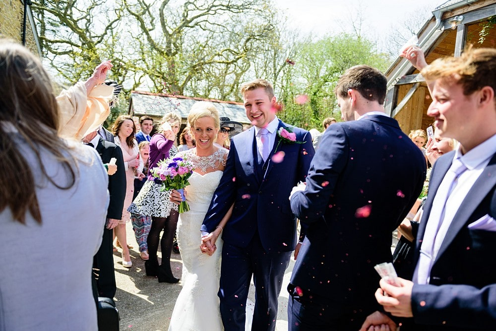 Confetti photographs at a Nancarrow Farm wedding 43