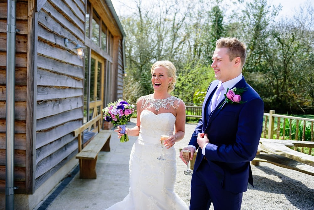 Candid wedding photographs at Nancarrow Farm 46