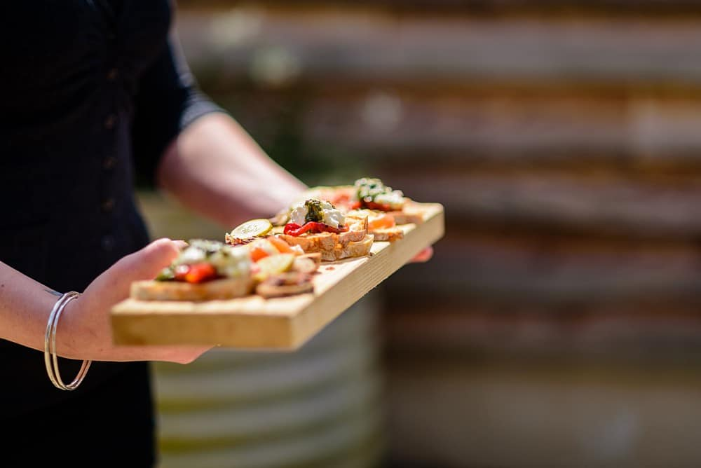 wedding canapes at Nancarrow Farm 49