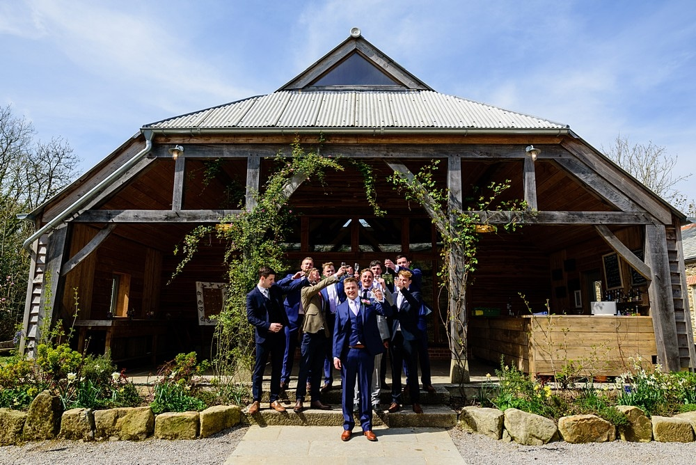 Fun shot of the groomsmen at Nancarrow Farm 50
