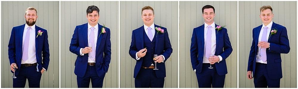 Cool photograph of the groomsmen at a Nancarrow Farm wedding 52