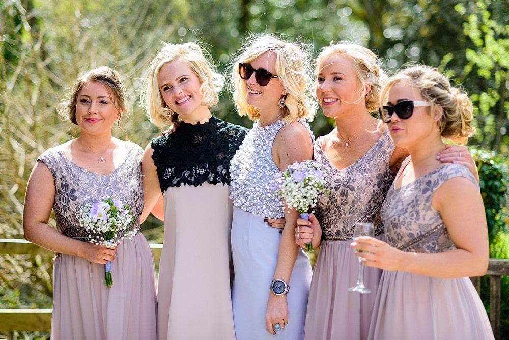 Wedding guests enjoying a wedding at Nancarrow Farm 57