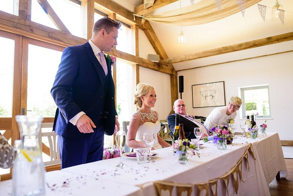 Grooms wedding speak at Nancarrow Farm 68