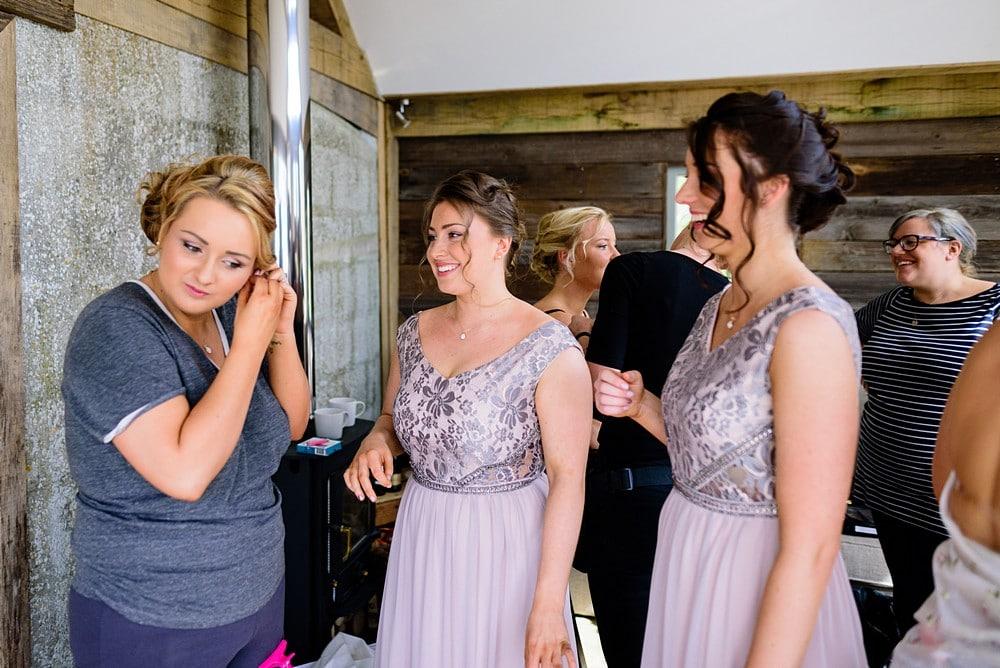 Bridal preperation at a Nancarrow Farm wedding 7