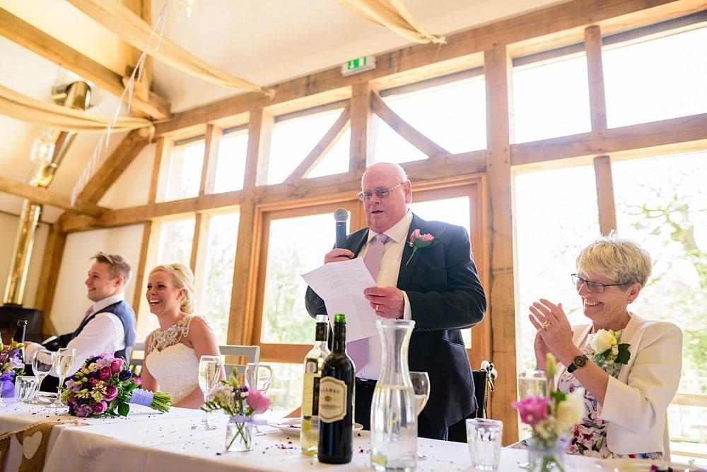 Father of the Brides wedding speech at Nancarrow Farm 70