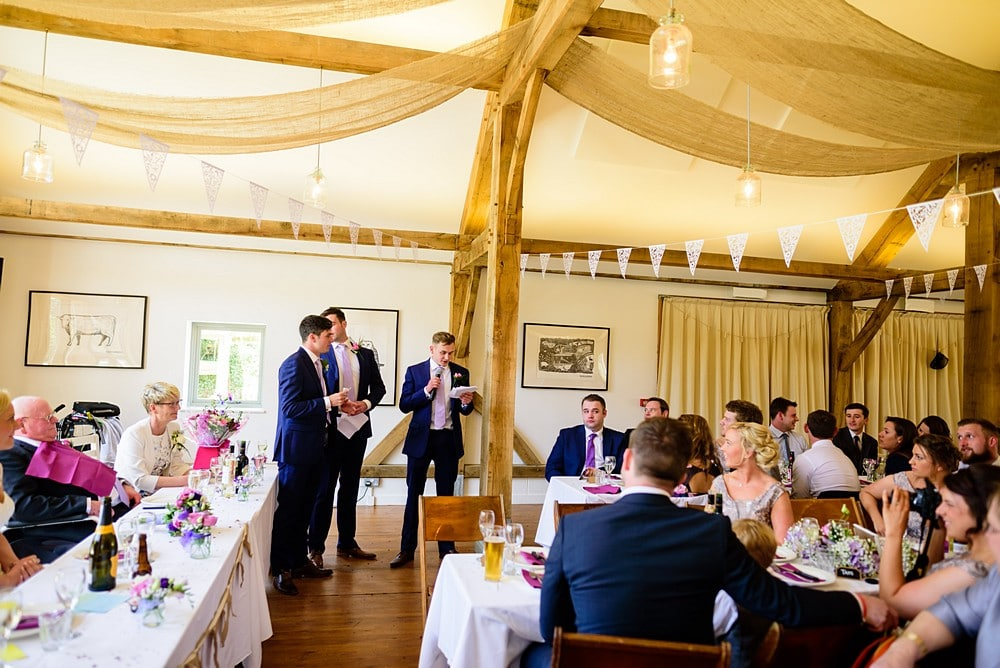 Best men wedding speeches at a Nancarrow Farm wedding 80