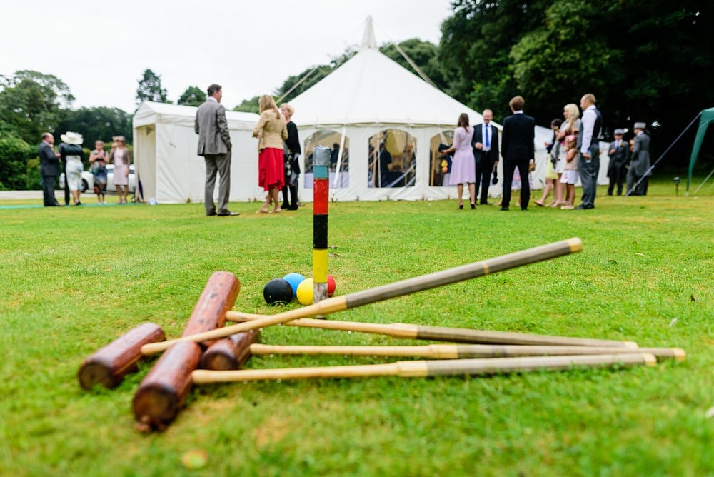 Croquet at a Prideaux Place wedding 104