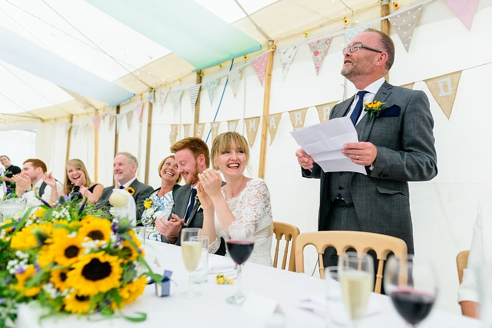 Father of the bride wedding speech at Prideaux Place 129