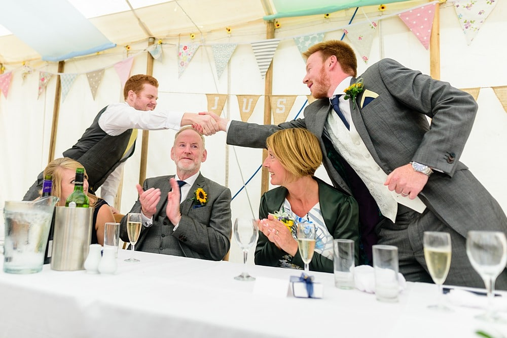 Bestmen wedding speeches at Prideaux Place 139