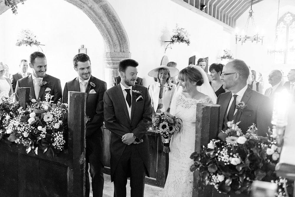 wedding ceremony at St Enodoc's Church 48