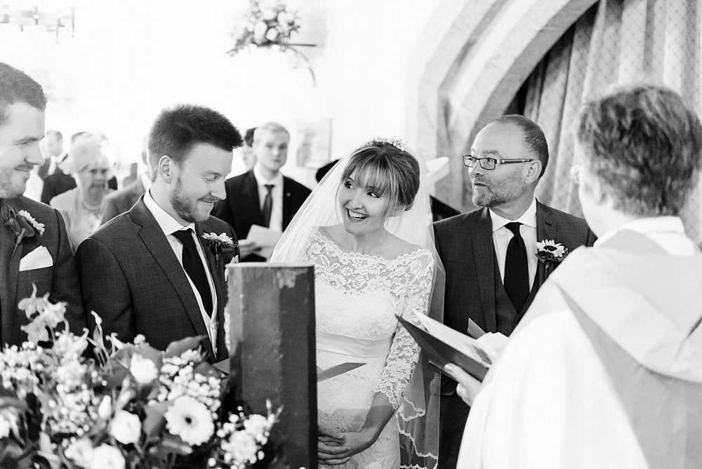 wedding ceremony at St Enodoc's Church 49