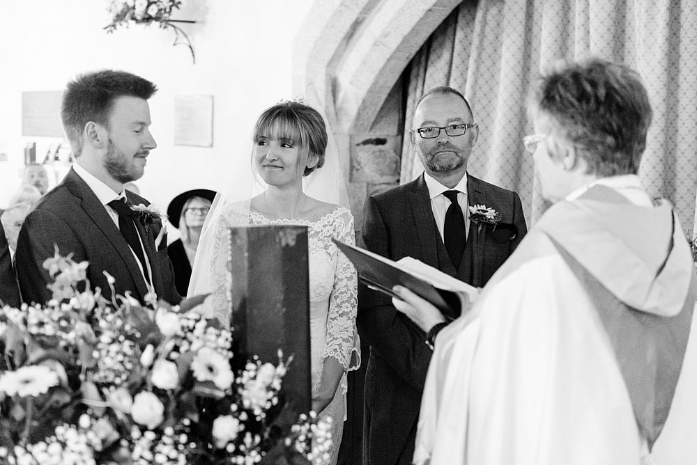 wedding ceremony at St Enodoc's Church 50
