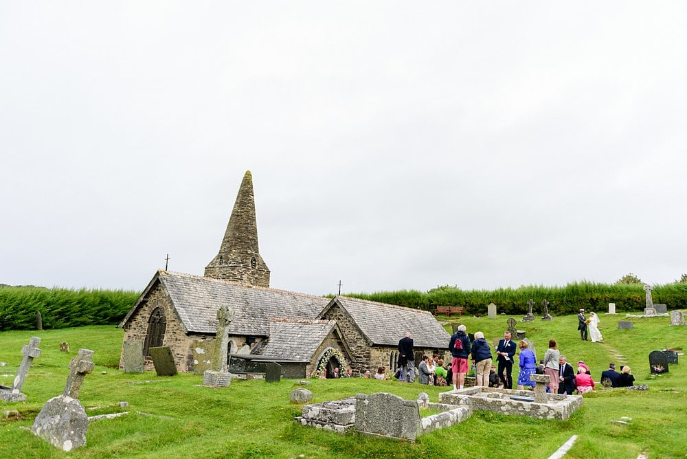 Wedding ceremony at St Enodoc Church 61