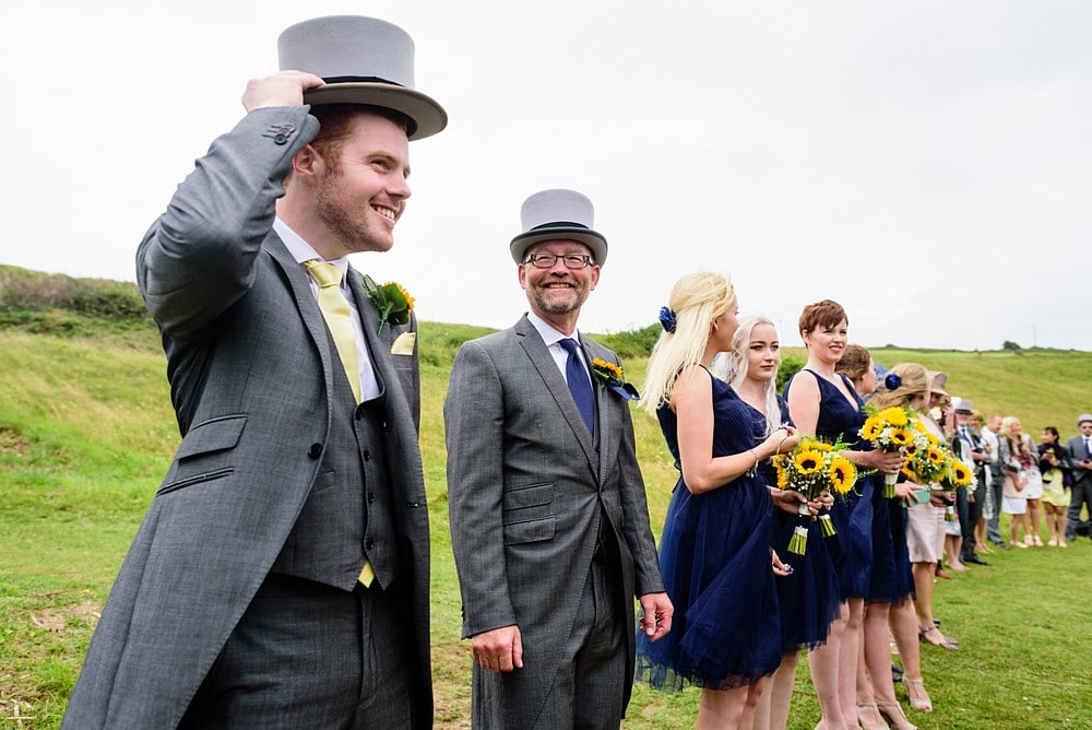 Documentary wedding photography at St Enodoc Church 66