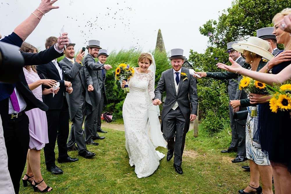 wedding confetti photography at St Enodoc Church 68