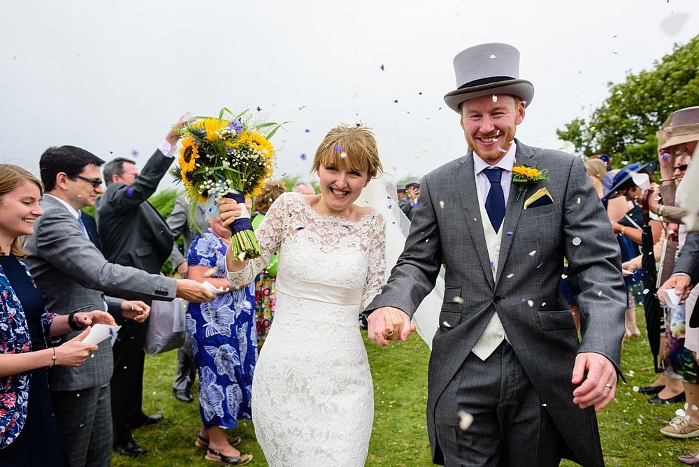 wedding confetti photography at St Enodoc Church 69
