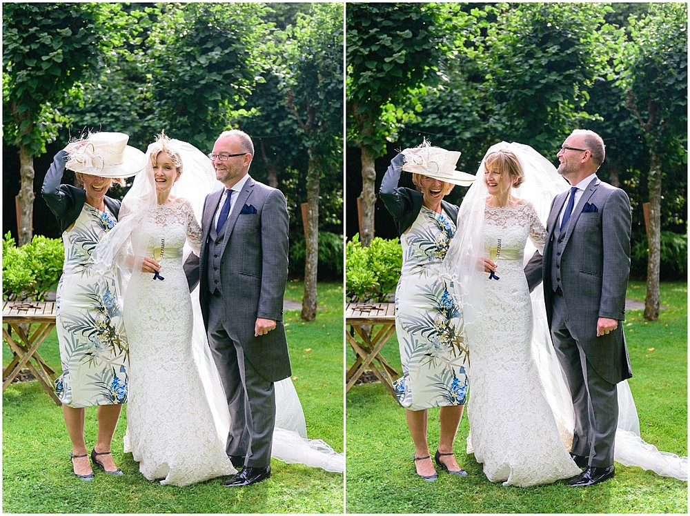 Candid wedding group shots at Prideaux Place 7