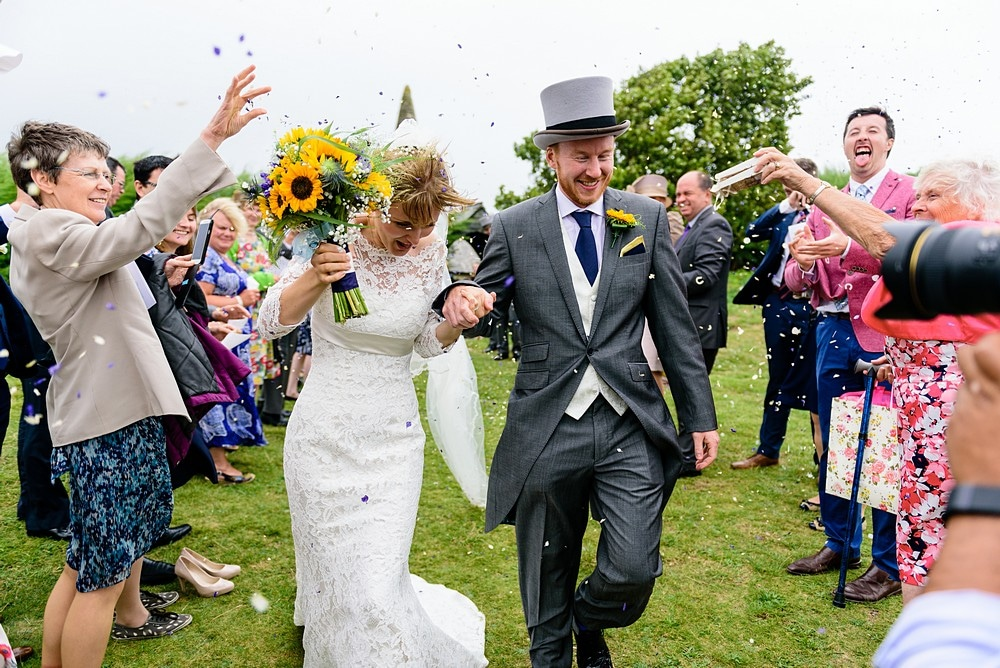 wedding confetti photography at St Enodoc Church 70