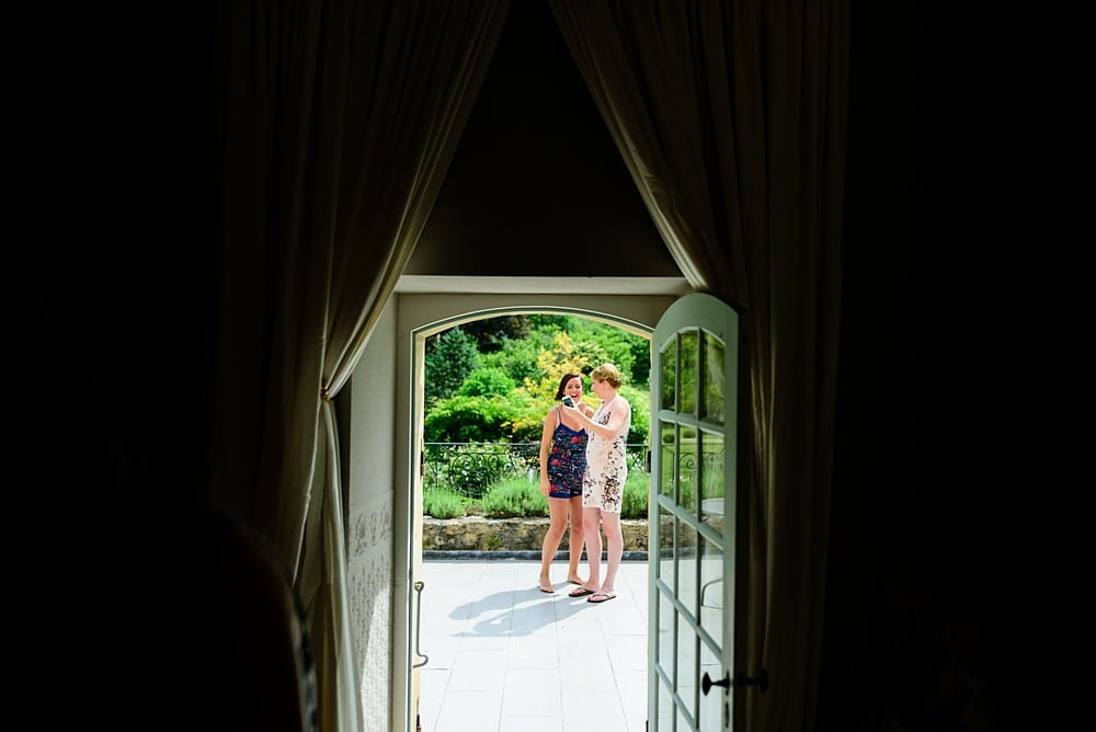 Intimate destination wedding at Chateau Forge Du Roy 17