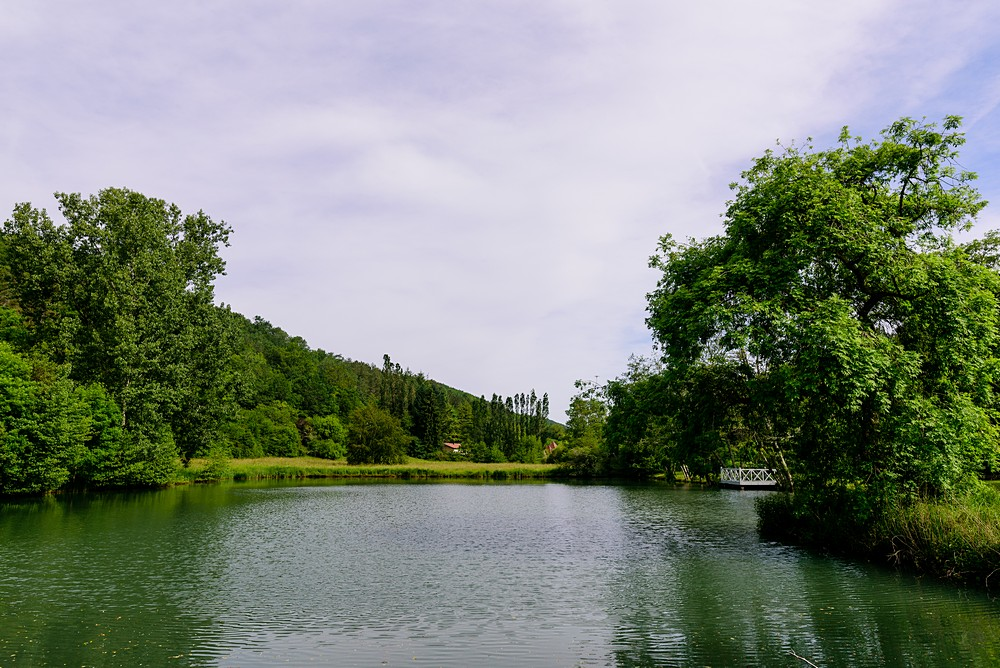 Stunning lake at Chateau Forge Du Roy 2