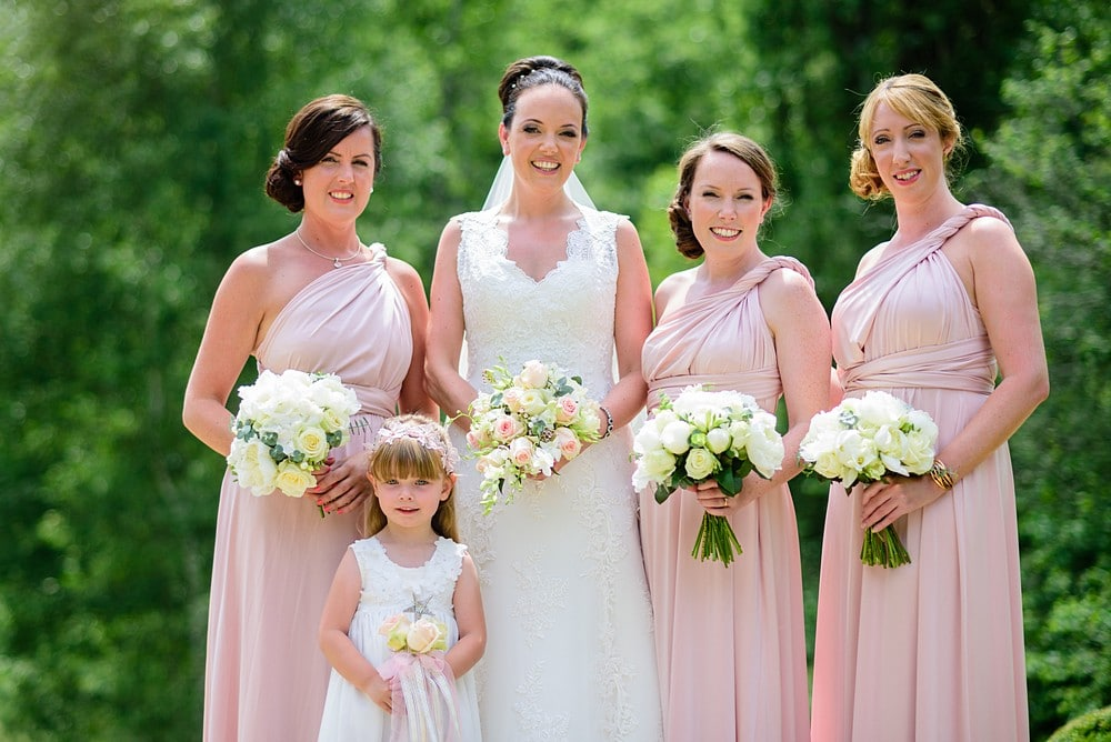 Bride and bridesmaids at Chateau Forge Du Roy 37