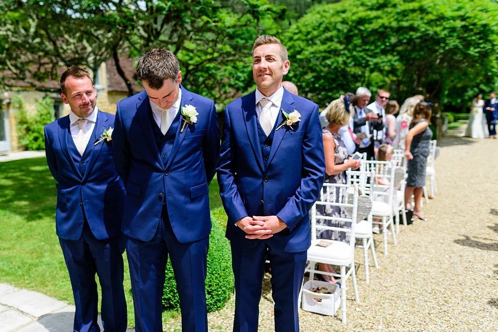 Nervous groom at Chateau Forge Du Roy 44