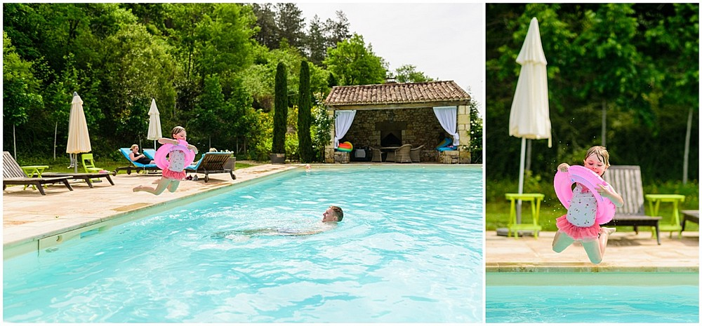 Open swimming pool at Chateau Forge Du Roy 6