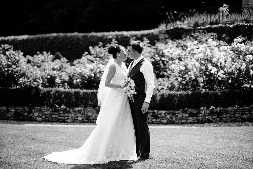 Wedding photography on the lawn at Chateau Forge Du Roy 65