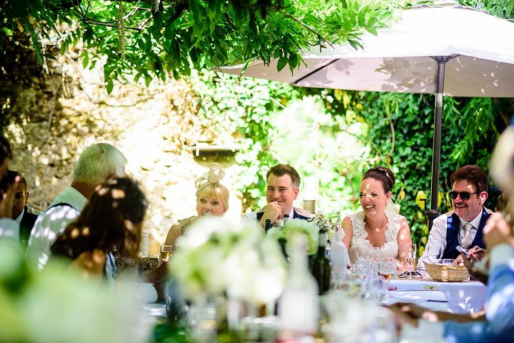 Wedding breakfast at chateau Forge Du Roy 75