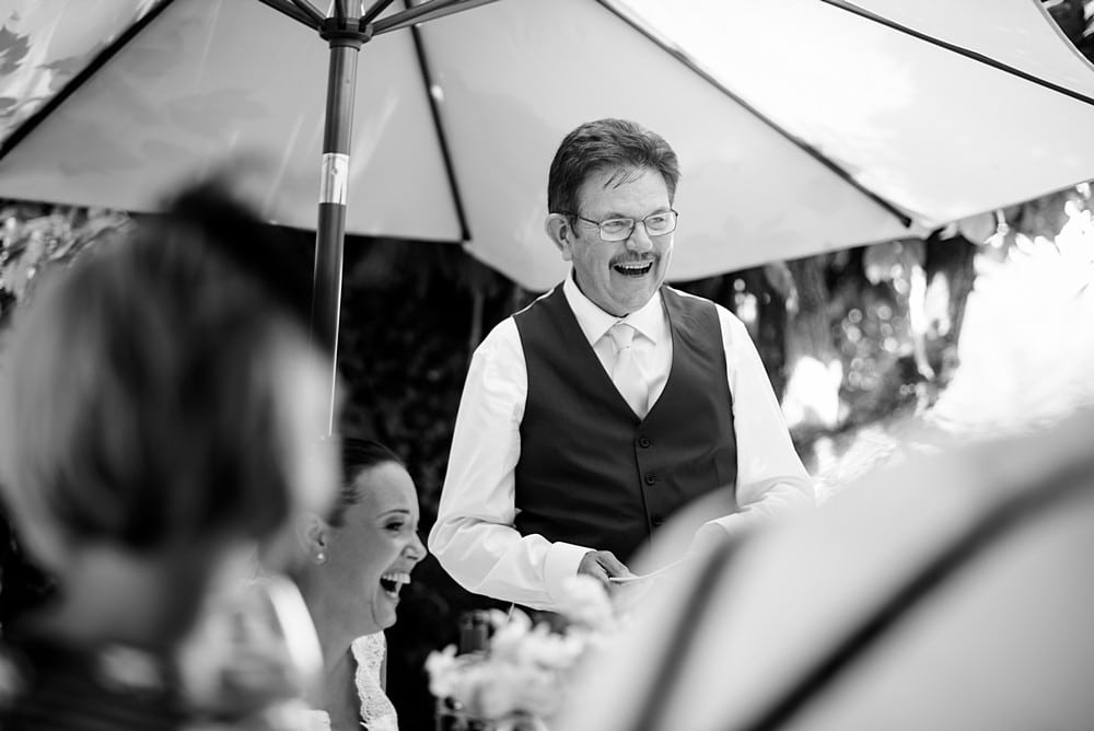Candid wedding speeches at Chateau Forge Du Roy 81