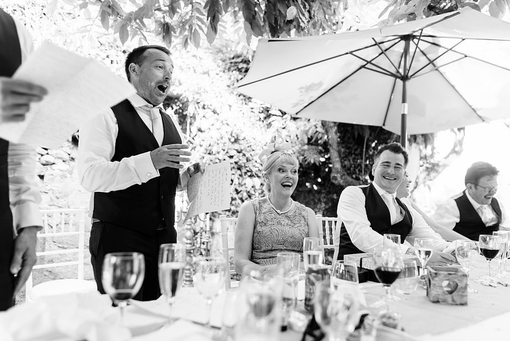 Bestman wedding speeches at Chateau Forge Du Roy 90