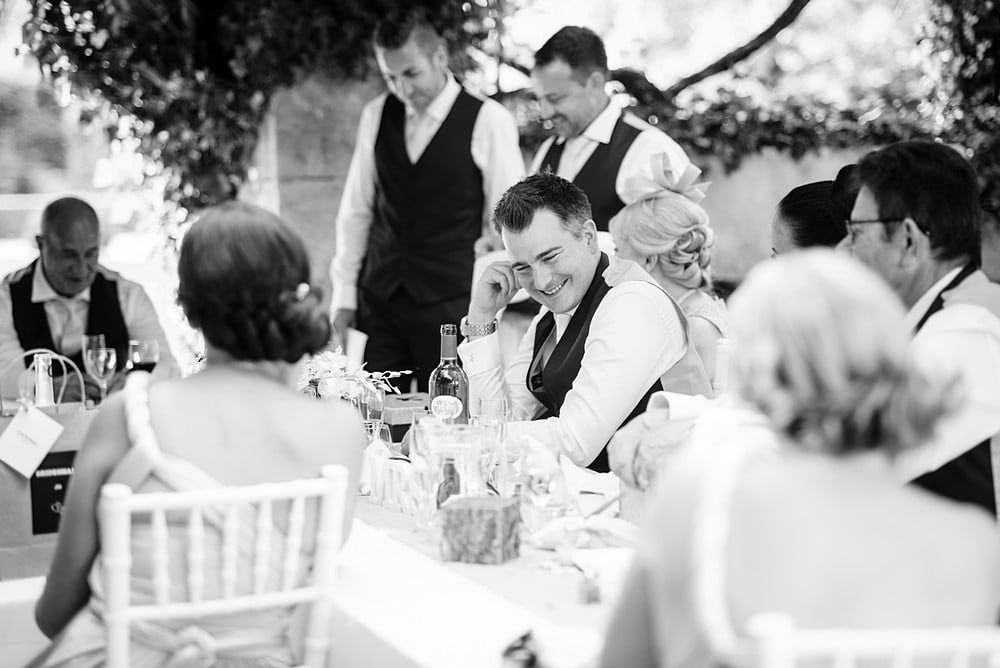 Funny wedding speeches at a Chateau wedding