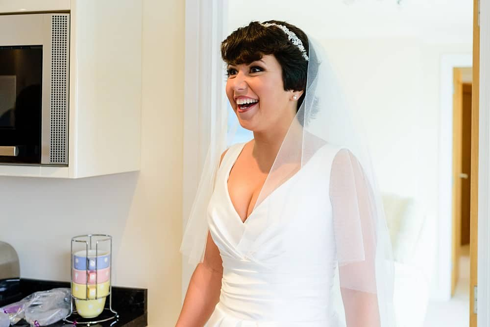 Happy Bride at the St Ives Harbour Hotel