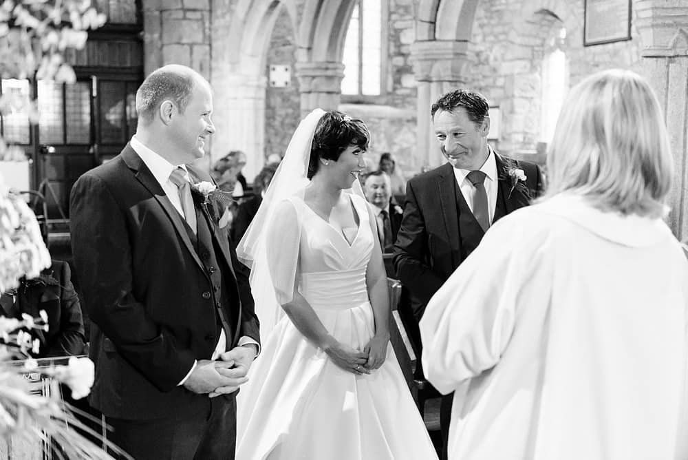 Reportage wedding photography at Ludgvan Church in Cornwall