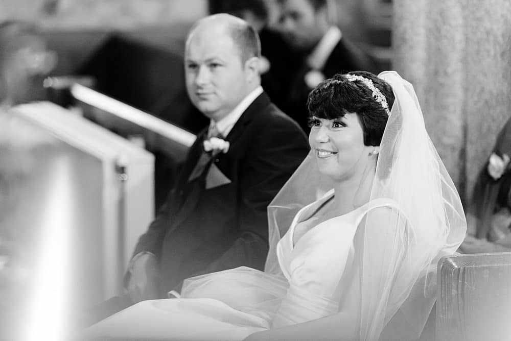 Happy Bride getting married at Ludgvan Church