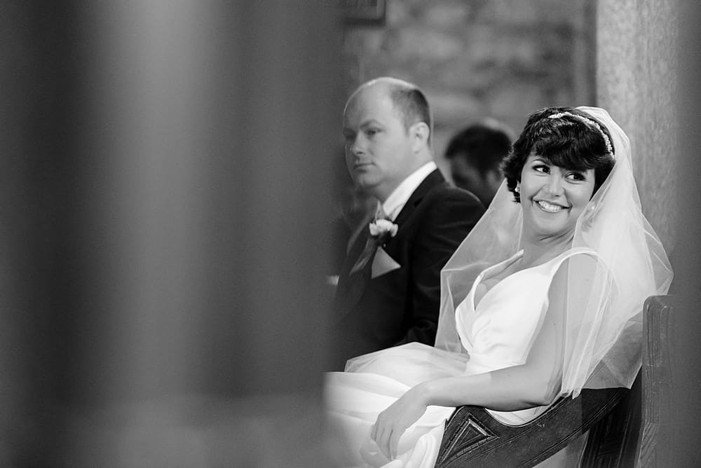 Candid wedding photography at Ludgvan Church