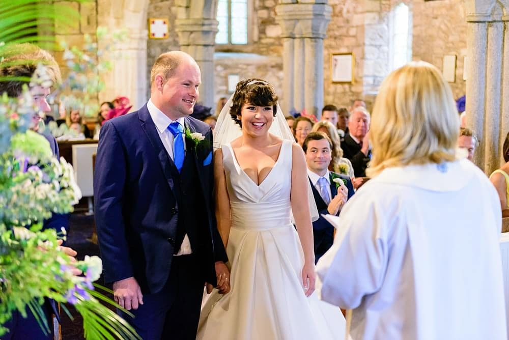 Lovely wedding at Ludgvan Parish Church