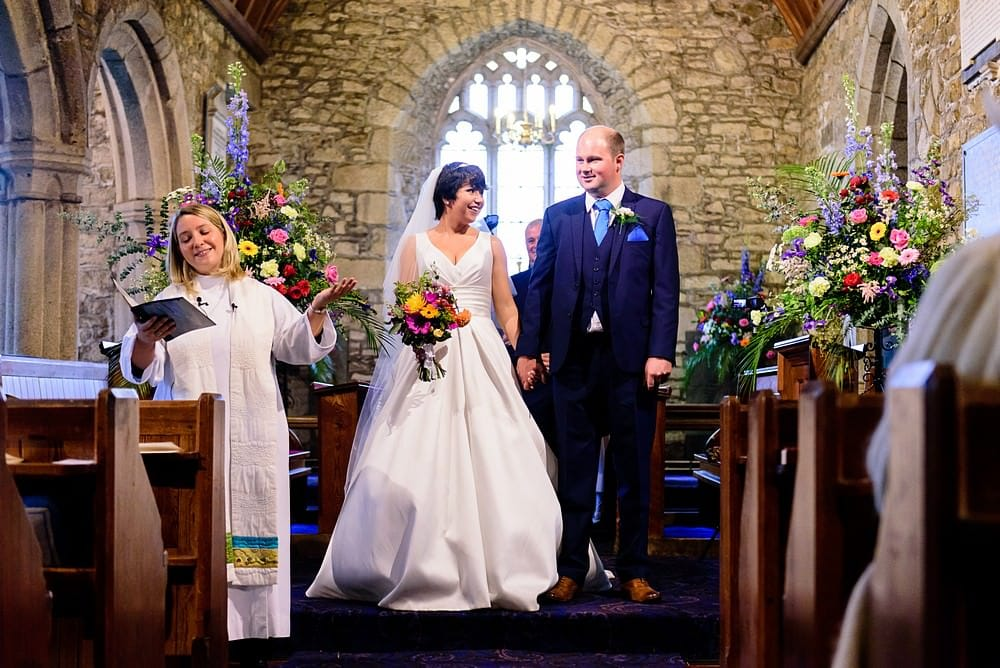 Female vicar wedding in Corwnall