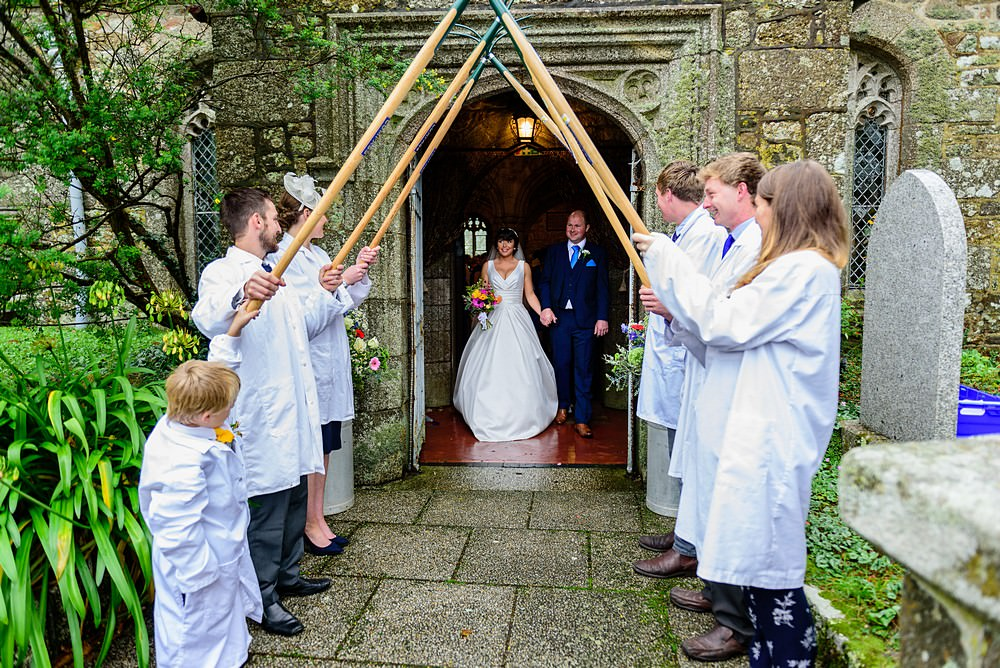 Farmer wedding in Cornwall