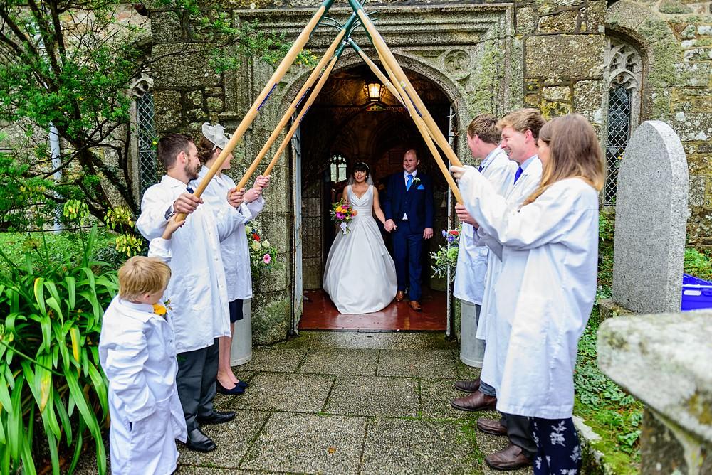 Farmer wedding in Cornwall