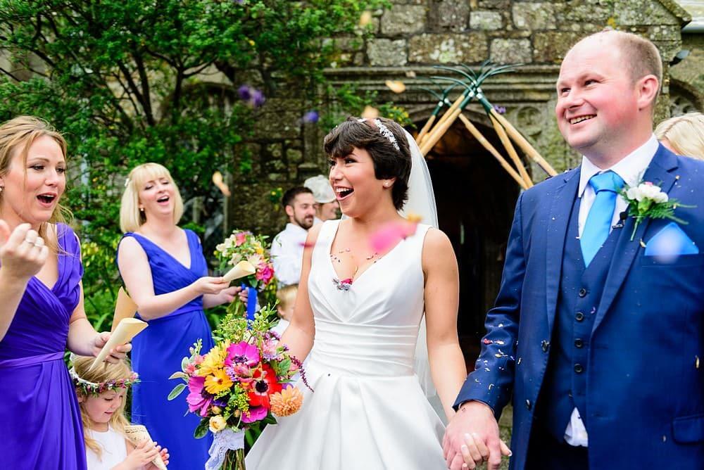 Candid wedding photography in Cornwall