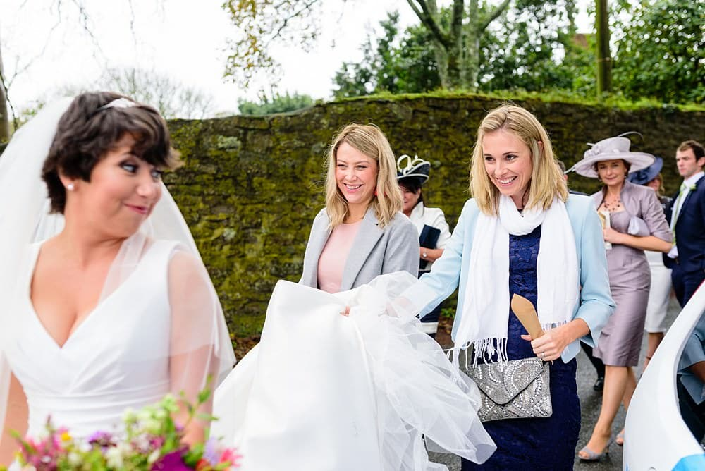 Wedding guests at Ludgvan Church