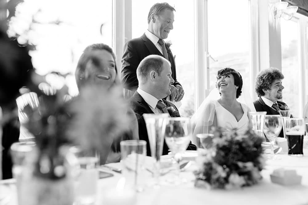 Father of the bride speeches at St Ives Harbour Hotel
