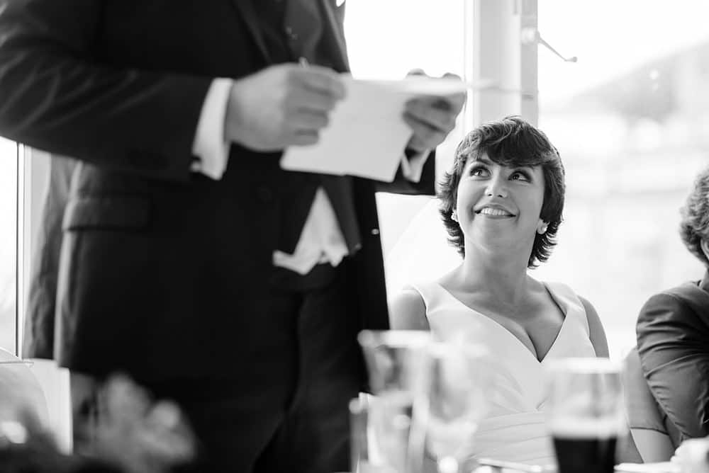Groom speech at the St Ives Harbour Hotel