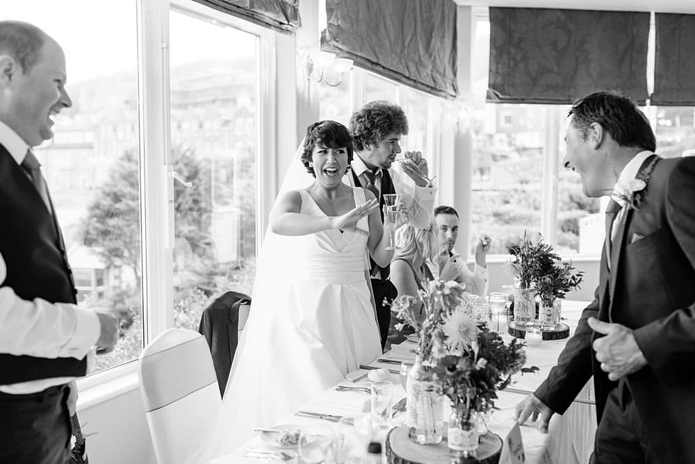 wedding speeches at St Ives Harbour Hotel wedding